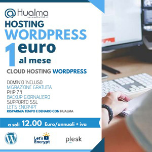 Hosting wordpress a 1€ Hualma